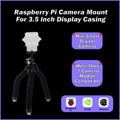 Raspberry Pi Camera Mount For 3.5 Inch Display Casing