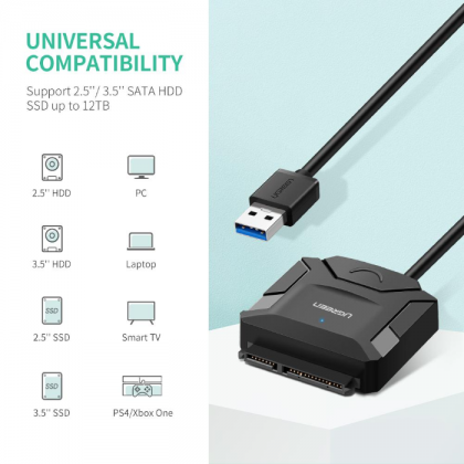 USB 3.0 to SATA 3 Hard Disk/SSD Converter (6Gbps)