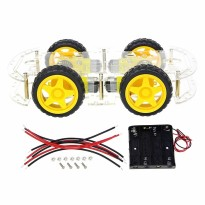 Arduino 4WD 2 Layer Smart Robot Car Chassis Kit with DC Motor Set