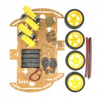 4WD 2 Layer Smart Robot Car Chassis Kit with DC Motor Set for Arduino