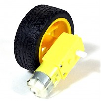 DC Motor + Robot Car Wheel