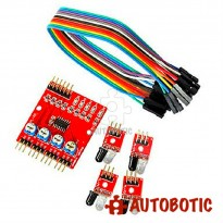 4 Way Infrared IR Tracking Line Following Module Sensor for Arduino