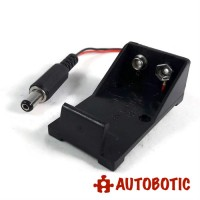 9V Battery Holder With Power Jack