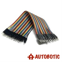 Male to Male Arduino Breadboard Dupont Jumper Wires (40p-20cm)