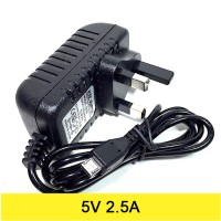 AC to DC Power Adapter 5V 2.5A Output Micro USB (UK Plug)
