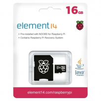 16GB MicroSD Card Preloaded with NOOBs for Raspberry Pi