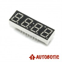 4 Digit 7 Segment 0.56 Inch Red Display (Common Cathode)