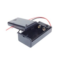 DC 9V Battery Holder + On/Off Switch + Cover