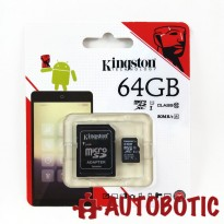 Kingston 64GB Micro SD Card 80MB/s Class 10 + Free Adapter