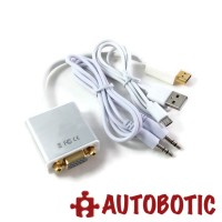 Premium Gold Plated HDMI to VGA Adapter with Audio