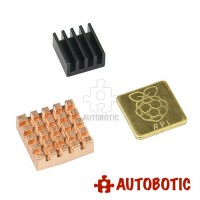 Raspberry Pi 3 Heatsink (Copper 2pcs + Aluminium 1pc)