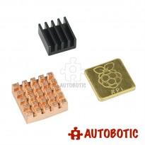 Raspberry Pi Heatsink (Copper 2pcs +  Aluminium 1pc)