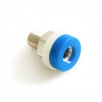 Brass 2mm Banana Jack Socket (Blue)