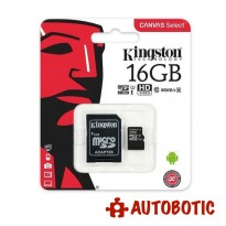 Kingston 16GB Micro SD Card 80MB/s Class 10 + Free Adapter
