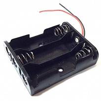 3AA Battery Holder + Wire Leads