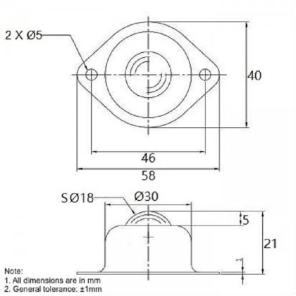 Metal Ball Caster(18MM)