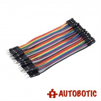 Male to Female Arduino Breadboard Dupont Jumper Wires (40p-10cm)