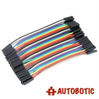 Female to Female Arduino Breadboard Dupont Jumper Wires (40p-10cm)
