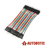 Male to Male Arduino Breadboard Dupont Jumper Wires (40p-10cm)