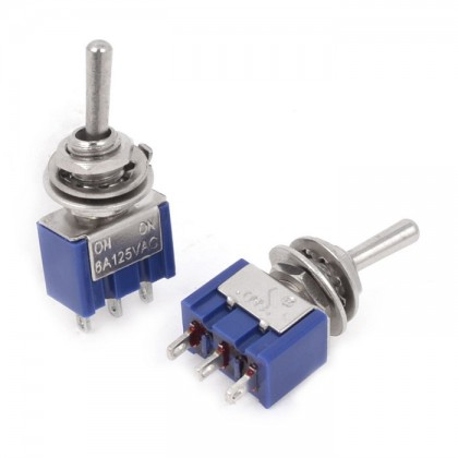 3 Pin SPDT Toggle Switch (ON/OFF/ON)
