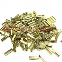 M3x8mm Brass PCB Standoffs Hexagonal Spacers Female-Female