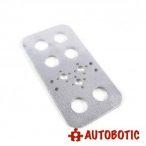 Aluminium Feet Bracket for DIY Robot (Silver)