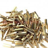 M3x10+6 Brass PCB Standoffs Hexagonal Spacers Male-Female
