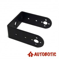 Aluminium Long U Bracket for DIY Robot (Black)