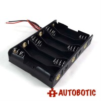 6AA Battery Holder + Wire Leads