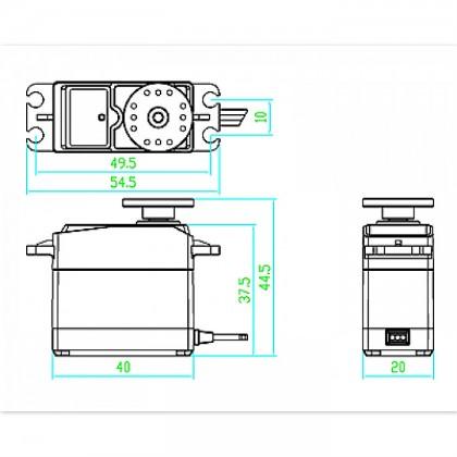 3kg.cm Standard Servo AS3103 -180 Degree