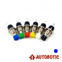 2-Pin Momentary Push On Button Switch - Hole 7mm (Blue)