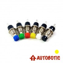 2-Pin Momentary Push On Button Switch - Hole 7mm (Yellow)