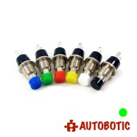 2-Pin Momentary Push On Button Switch - Hole 7mm (Green)