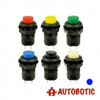 2-Pin DS-427 Momentary Push On Button Switch SPST - Hole 12mm (Blue)