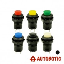 2-Pin DS-427 Momentary Push On Button Switch SPST - Hole 12mm (Black)