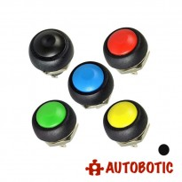 2-Pin Momentary Push On Button Switch - Hole 12mm (Black)