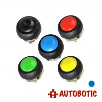 2-Pin Momentary Push On Button Switch - Hole 12mm (Blue)