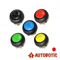 2-Pin Momentary Push On Button Switch - Hole 12mm (Red)