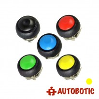 2-Pin Momentary Push On Button Switch - Hole 12mm (Yellow)