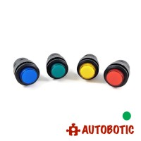 4-Pin Momentary Push On Button Switch With LED - Hole 16mm (Green)