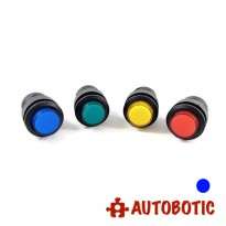 4-Pin Momentary Push On Button Switch With LED - Hole 16mm (Blue)