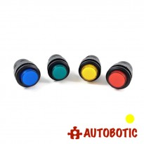 4-Pin Momentary Push On Button Switch With LED - Hole 16mm (Yellow)