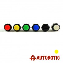 2-Pin Momentary Push On Button Switch - Hole 16mm (Yellow)