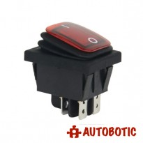 4-Pin Premium KCD4-2X1N Waterproof On/Off Rocker Switch DPST 16A/250V With LED (Red)
