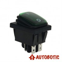 4-Pin Premium KCD4-2X1N Waterproof On/Off Rocker Switch DPST 16A/250V With LED (Green)
