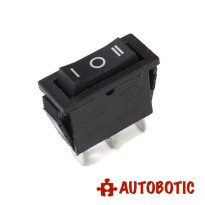 3-Pin KCD3-103 On/Off/On Rocker Switch SPDT 15A/250V (Black)
