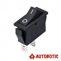 2-Pin KCD3-101 On/Off Rocker Switch SPST 15A/250V (Black)