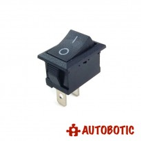 2-Pin KCD1-101 On/Off Rocker Switch SPST 6A/250V (Black)