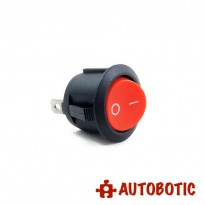 2-Pin KCD1-105 On/Off Rocker Switch SPST 6A/250V - Hole 20mm (Red)