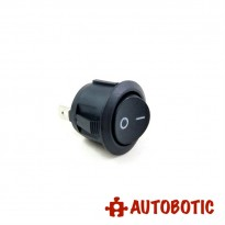 2-Pin KCD1-105 On/Off Rocker Switch SPST 6A/250V- Hole 20mm (Black)